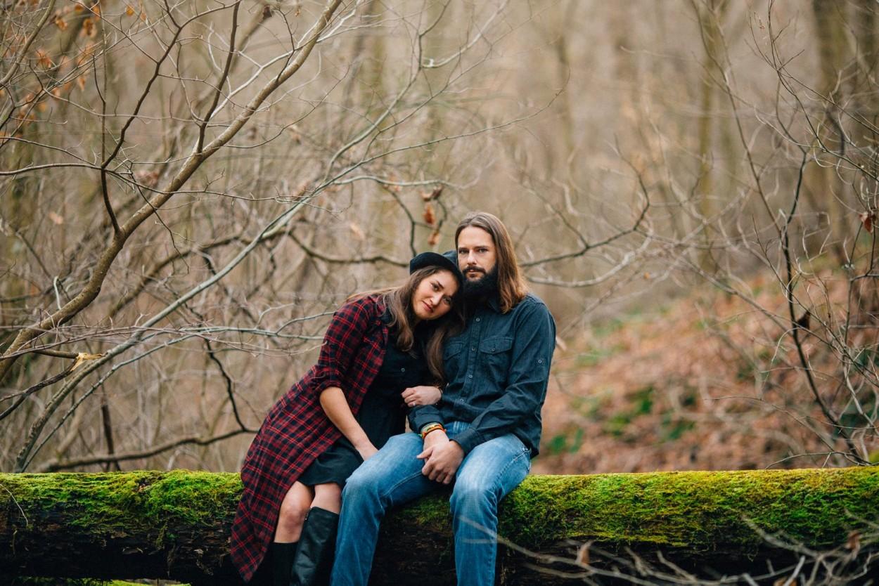 Klair + Dustin - Woodsy West Virginia Engagement