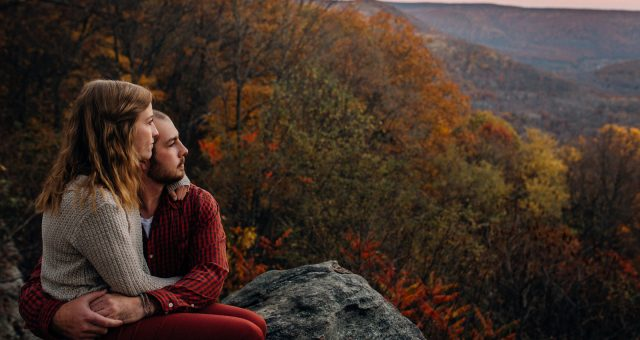 Amber + Jake - Ohiopyle Engagement Session
