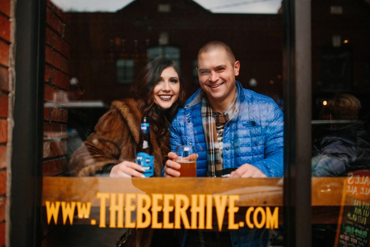 Kayleen and Brett - Cozy Winter Pittsburgh Engagement