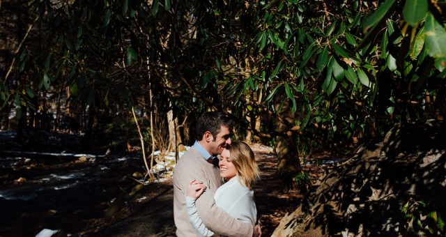 Ashley + Chris - Chilly Pittsburgh Engagement