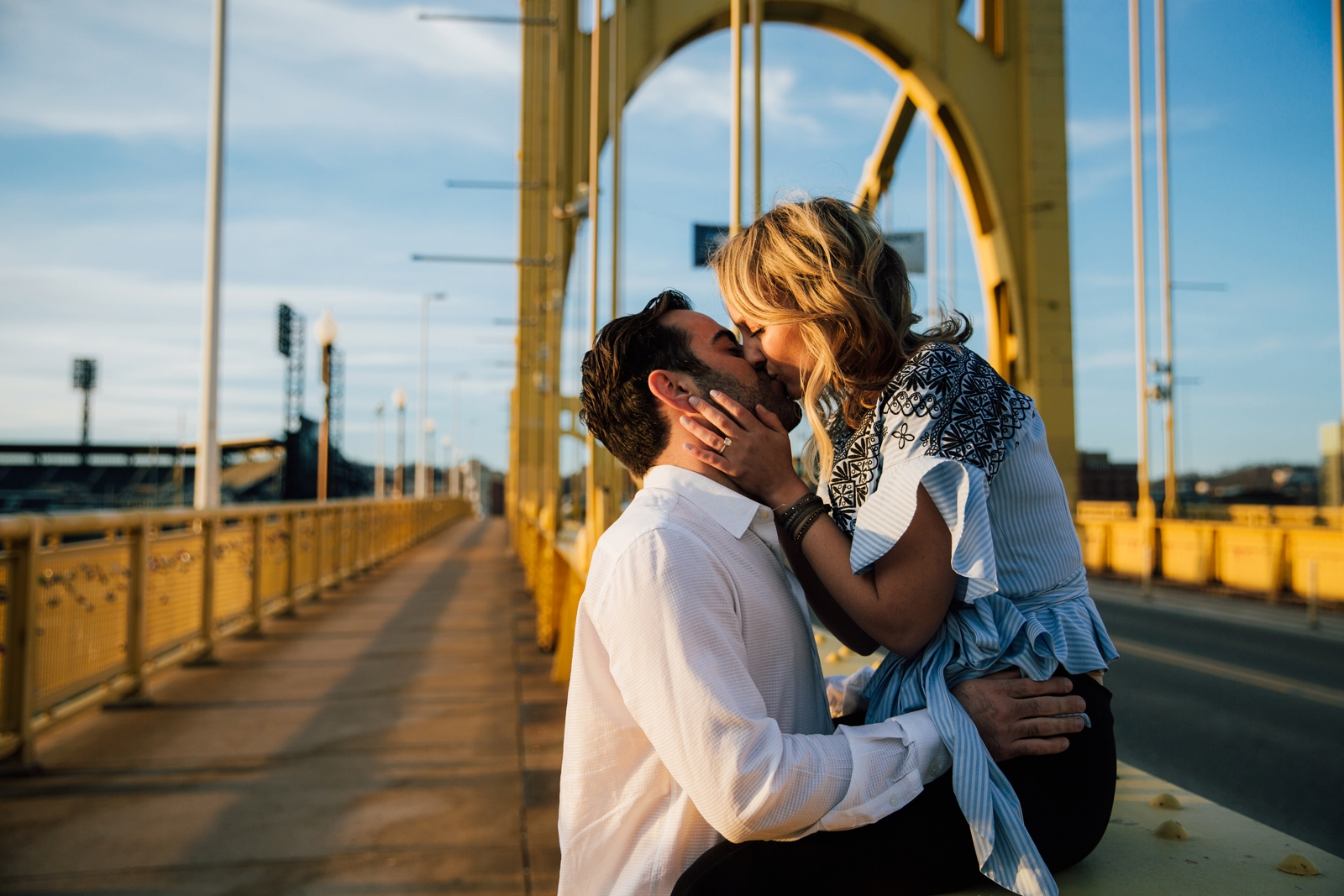 Pittsburgh Engagement Photos Strip District Photographer