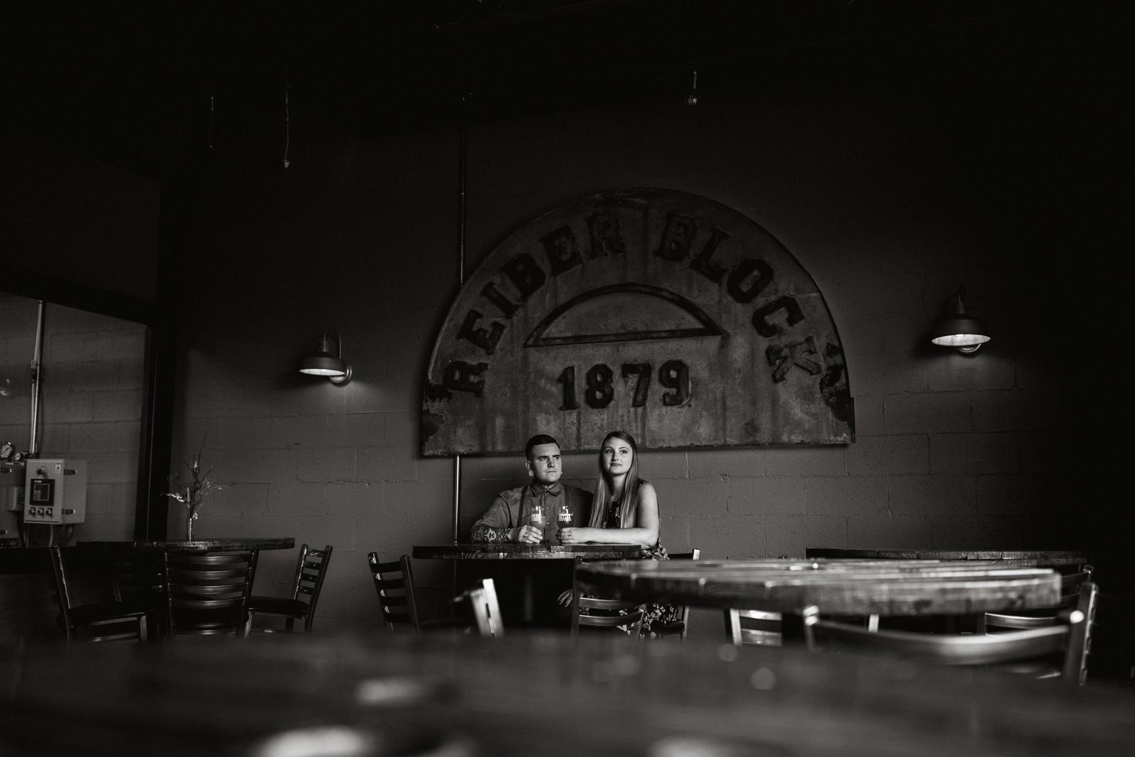 McConnells Mill Butler Brew Works Pennsylvania Engagement Photographer