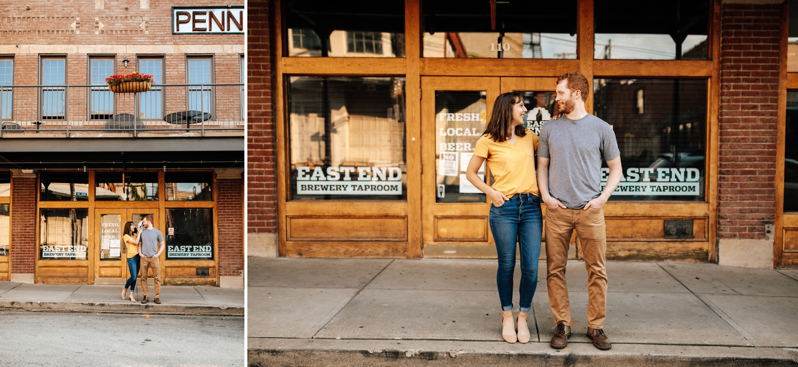 Pittsburgh Engagement Photos Strip District Downtown